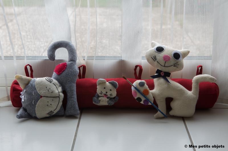 """N° 9 : Boudin de porte """"Chats & souris peintres"""""""