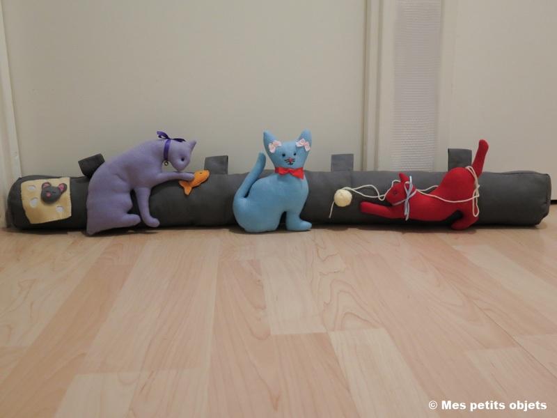 """N° 15 : Boudin de porte """"Les chats joueurs 2"""""""