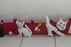 """N° 7 : Boudin de porte """"Les chats s'amusent'"""