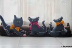 """N° 12 : Boudin de porte """"Les chats malins"""""""