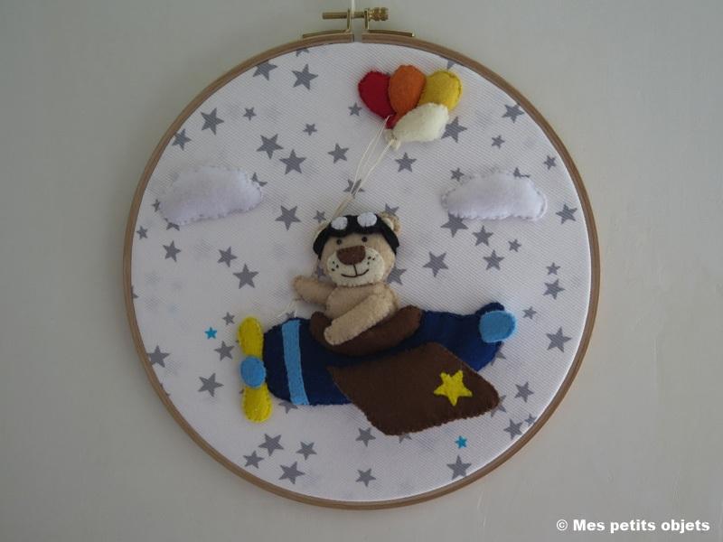Cercle décoratif pour porte de chambre enfant d=26,5 cms