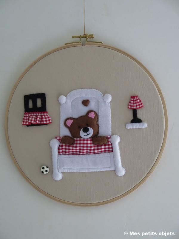 Cercle décoratif N° 2 pour porte de chambre enfant d=26,5 cms