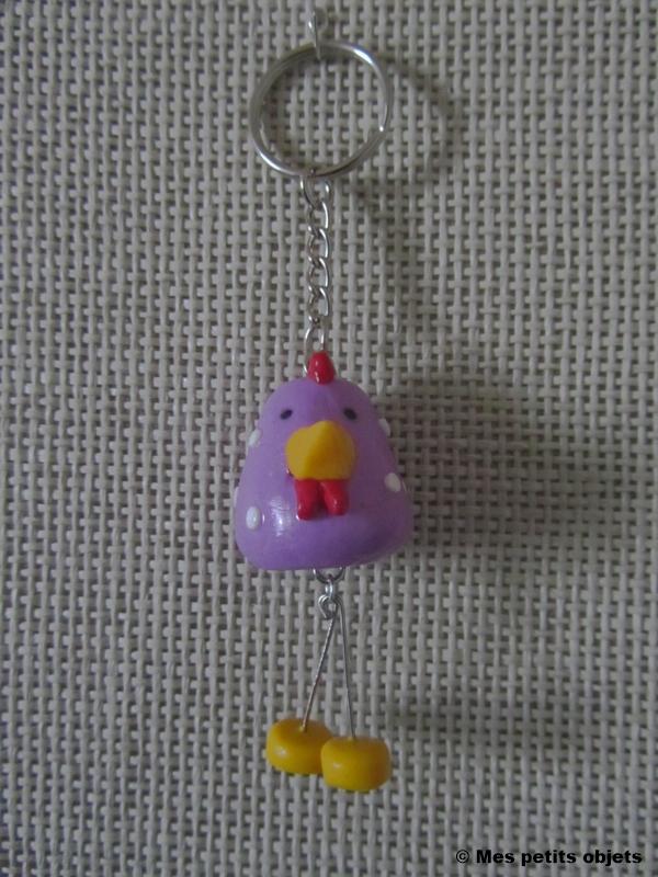 10-Porte-clefs-Poule-violette