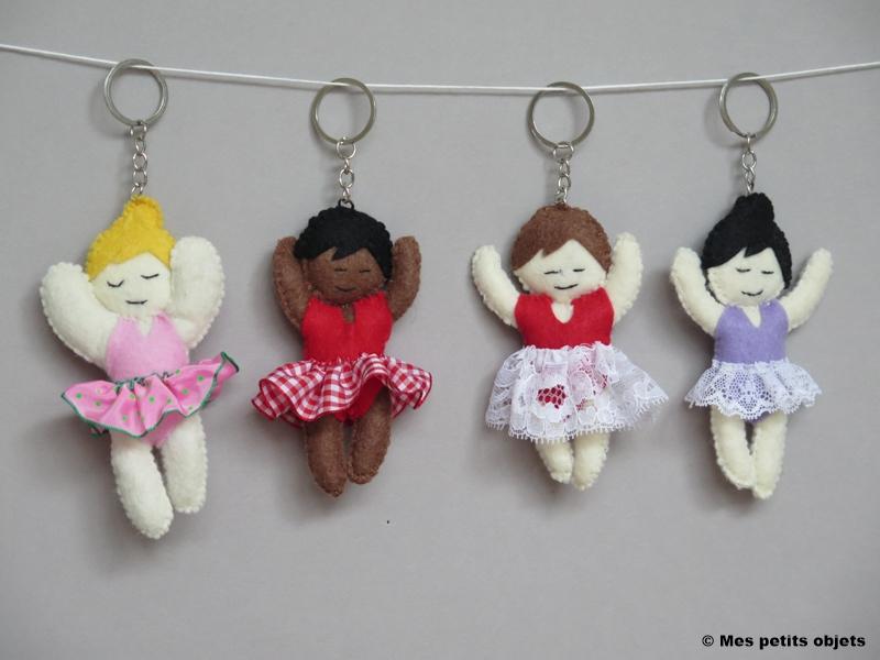 """N° 3 : Porte-clefs """"Les danseuses 1"""""""