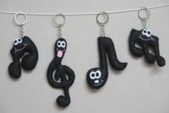 """N° 4 : Porte-clefs """"Notes de musique"""""""