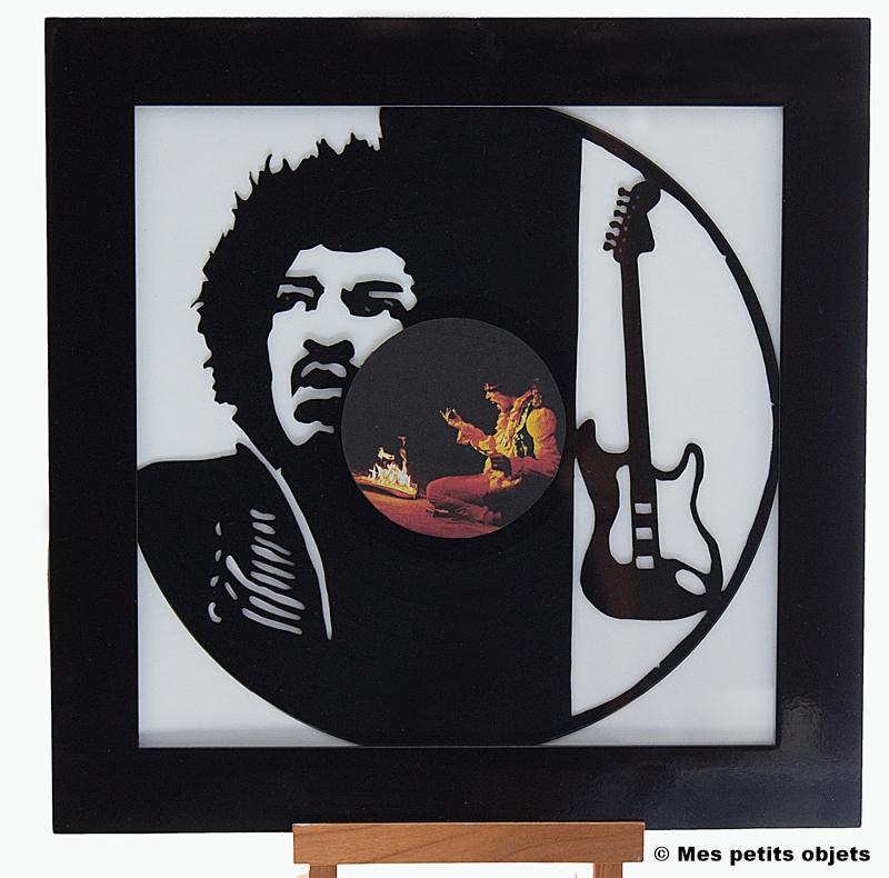 Jimi Hendrix sous cadre 30x30